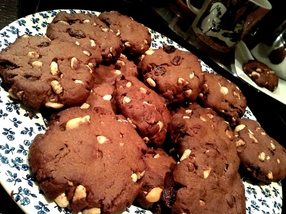 Chocolate Cookies With Fruit and Nuts